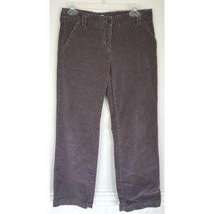 GARNET HILL Gray Corduroy Pants Size 4P Petite